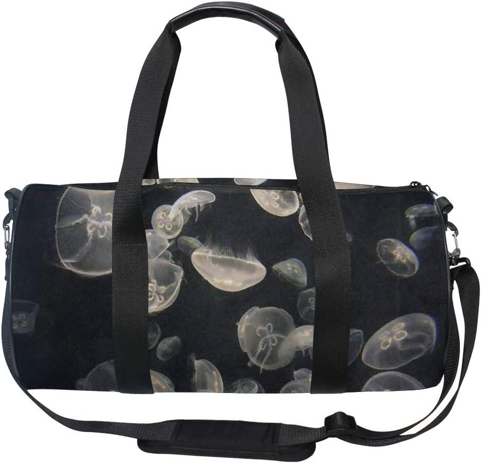 Gym Bag Glow In The Dark Jellyfish Women Canvas Duffel Bag Cute Sports Bag for Girls