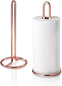 Kontactic Rose Gold Paper Towel Holder Countertop | Kitchen Towel Holders | Stainless Steel Paper Towel Holders | Copper Paper Towel Holder for Kitchen | Kitchen Paper Towel Holder Stainless Steel