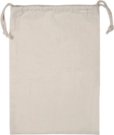 Paquete de 2 Bolsa de Algodón con Cordón de Almacenamiento Para Hogar Saco de Lavandería Respirable a Prueba de Polvo Multifuncional Bolsa de Viaje Para Senderismo Al Aire Libre Camping(22*28cm): Amazon.es: Hogar