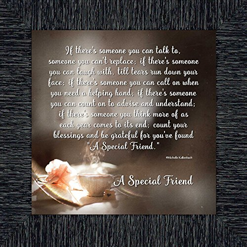 Elegantly Yours A Special Friend, Birthday Gift for Best Friend, Picture Frame for Your Forever Best Friend, 10x10 - Gift Forever Yours