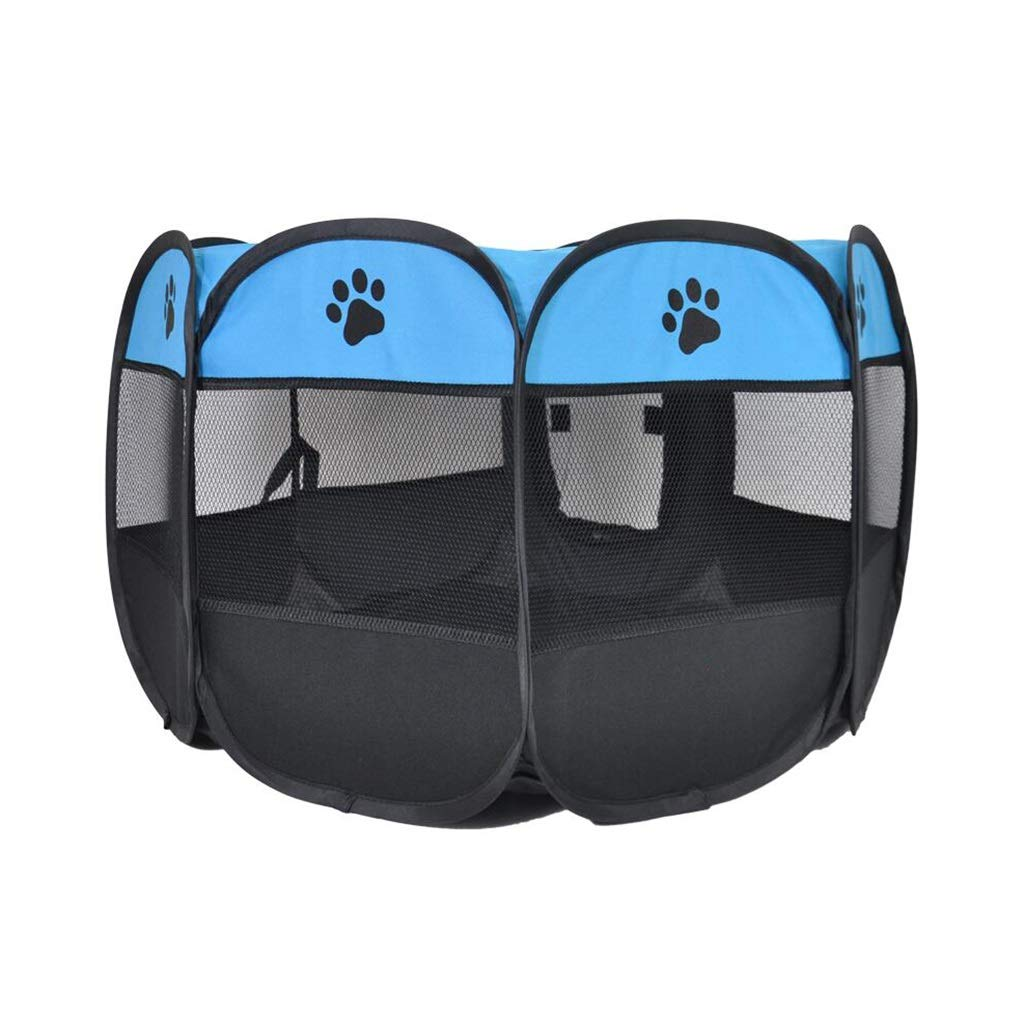 bluee L bluee L SN Pet Tent Puppy,Foldable Dog Cat Playpen Indoor Rabbit Guinea Pig Play Pen Traveling Camping (color   bluee, Size   L)