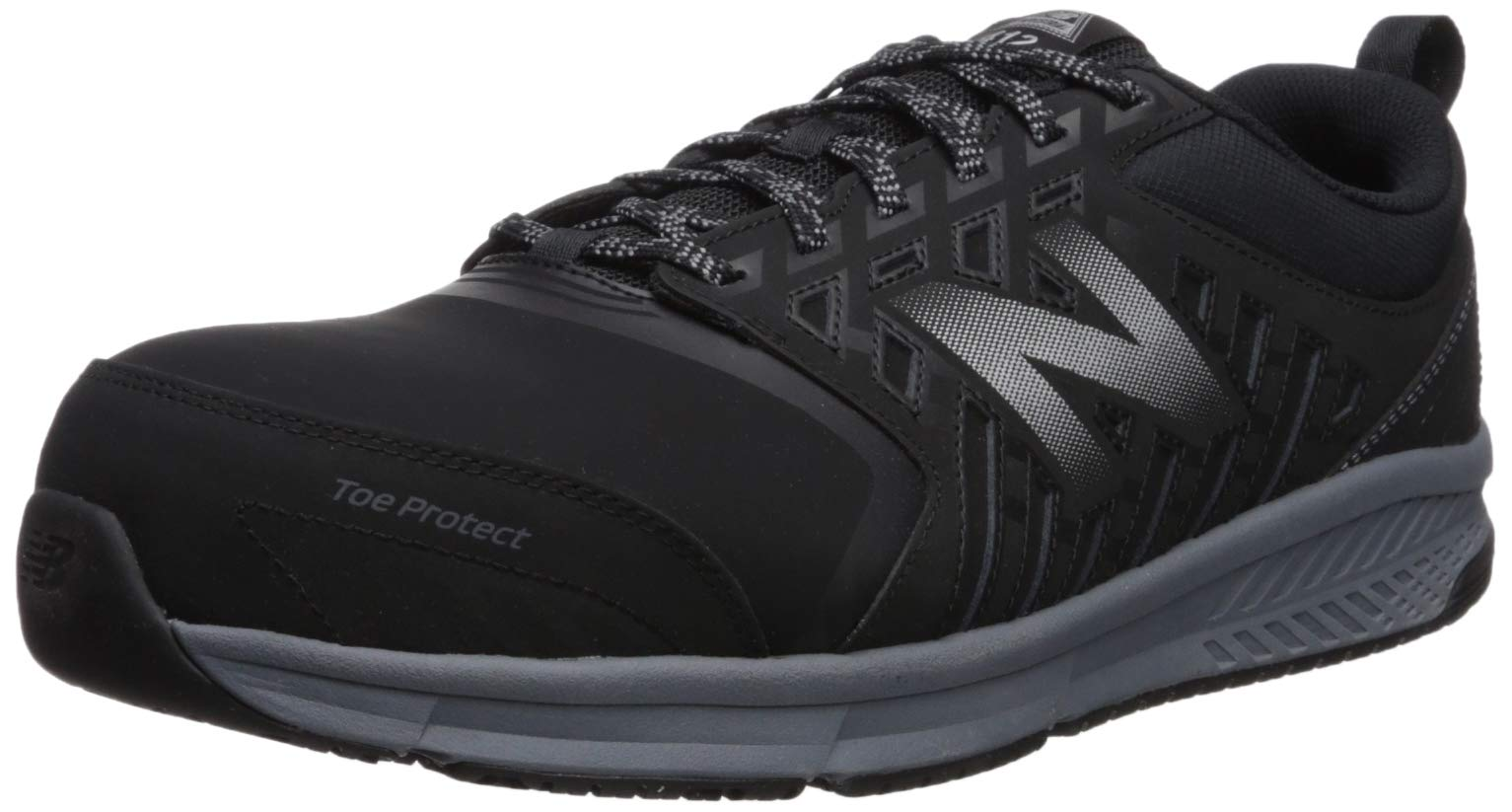 New Balance Men's 412v1 Work Industrial Shoe, Black/Silver, 9.5 2E US