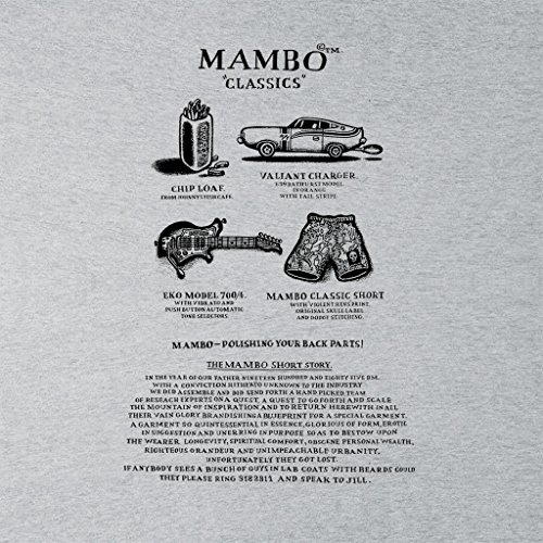 The Story Women's Classics Heather Text Short Mambo Vest Grey Black 4qx1tC5C6w