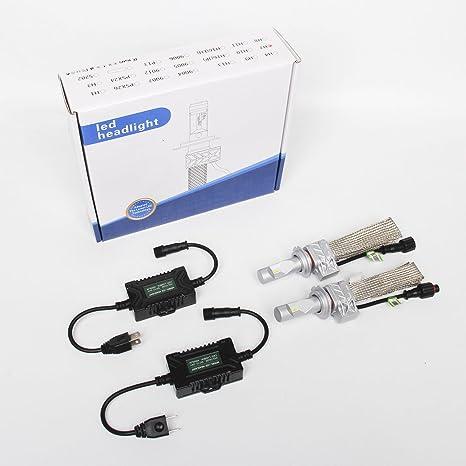 SKUNTUGUANG Bombillas LED para faros delanteros de coche, Philips Luxeon Zes Chips 8000lm 6500k 360 grados ...