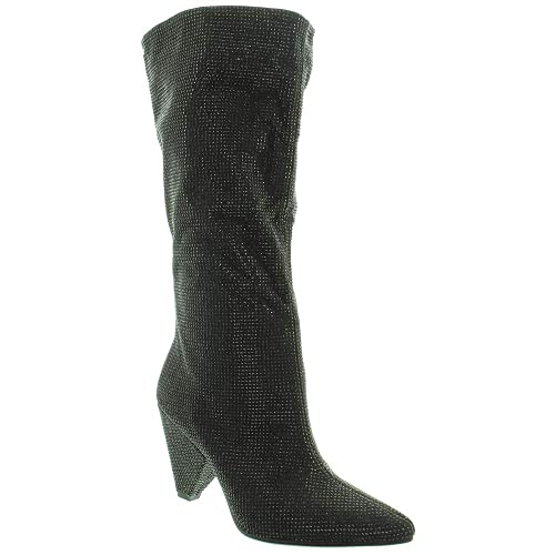 787a2aa8c93 Inuovo - Ladies 21004 Diamante Knee Boots in Black  Amazon.co.uk ...