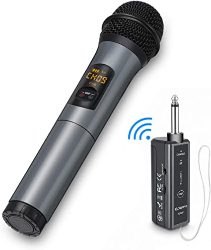 UHF Wireless//Wired Handheld Audio M... Dual Function Dynamic Microphone System