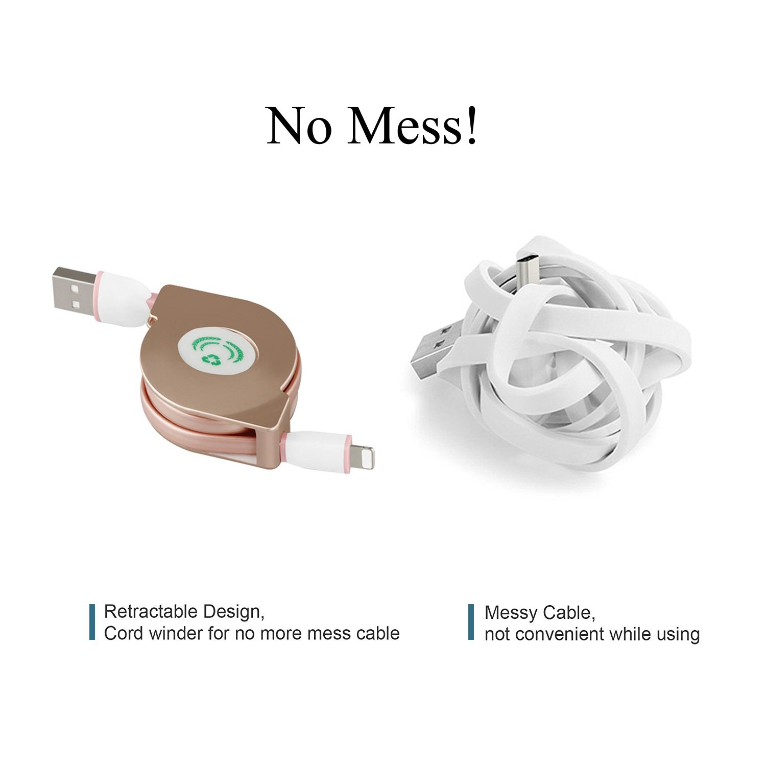 Amazon.com: Retractable Lightning Cable, SBOZ iPhone Cable Charger ...
