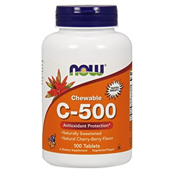 Now Foods - Vitamina C-500 100 tabletasChew (Tabs Masticables): Amazon.es: Salud y cuidado personal