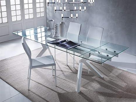 Emporio3 Tavolo da cucina allungabile in vetro Tricorno ...
