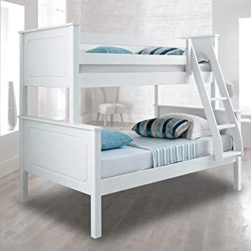 White Triple Sleeper Bed Happy Beds Vancouver Pine Wood Traditional