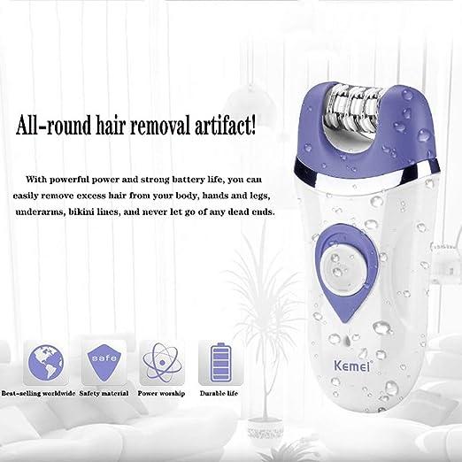 MQSS Depiladora Electrica, Depilacion Facial 3en 1, maquinilla de Afeitar eléctrica Recargable 3 en 1, depiladora de Bikini de afeitadora para Damas para piernas: Amazon.es: Hogar