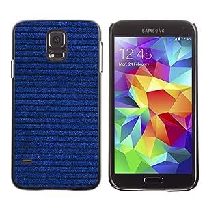 MOBMART Carcasa Funda Case Cover Armor Shell PARA Samsung Galaxy S5 - Horizontal Denim Drawn Lines