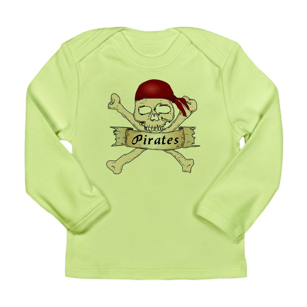 Truly Teague Long Sleeve Infant T-Shirt Simply Pirates Skull /& Crossbones 18 To 24 Months Kiwi