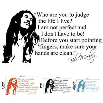 Wandtattoo Wandaufkleber Motiv Bob Marley Zitat Grose Large