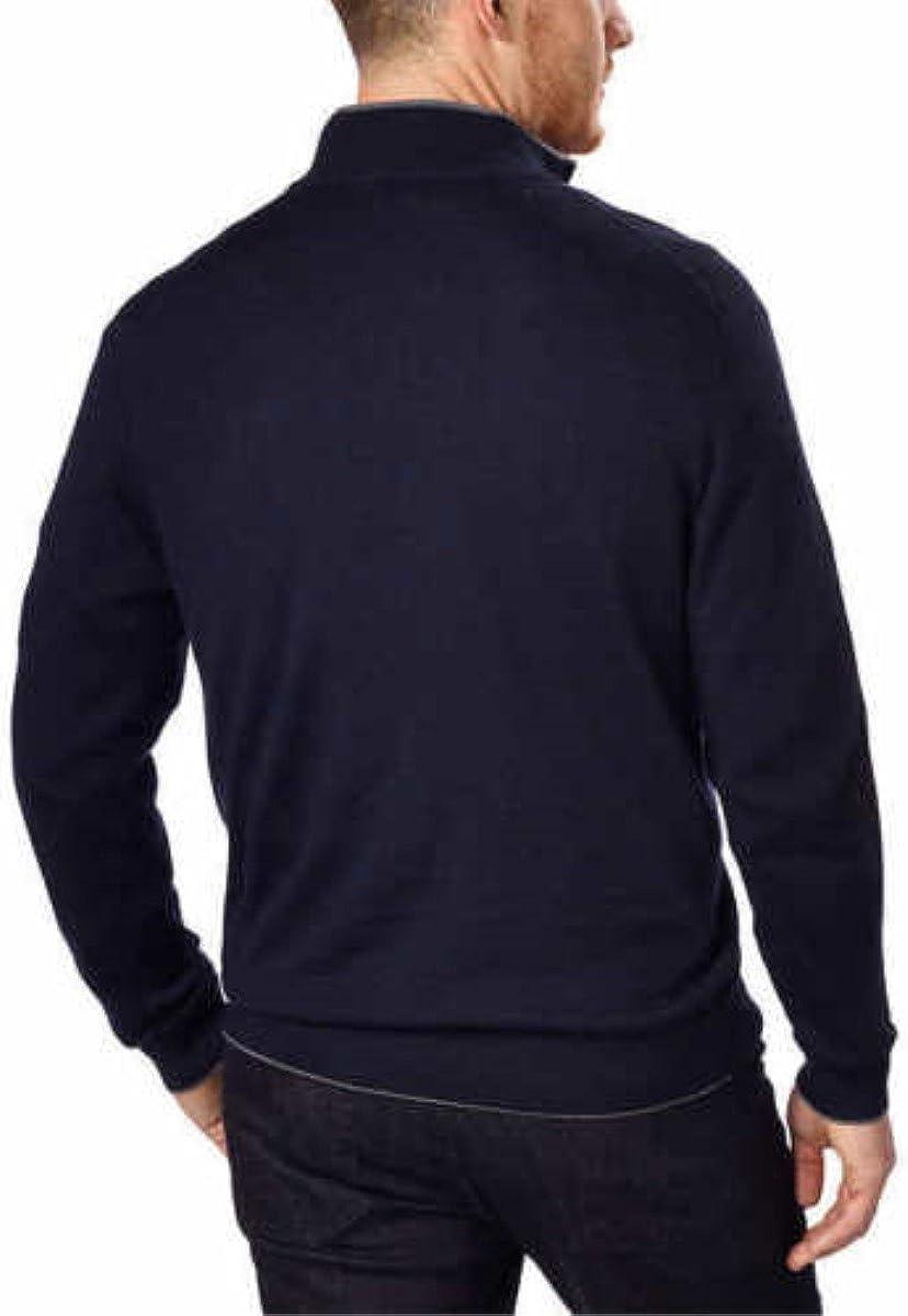 Kirkland Signature Men/'s Extra Fine Merino Wool /¼ Zip Sweater