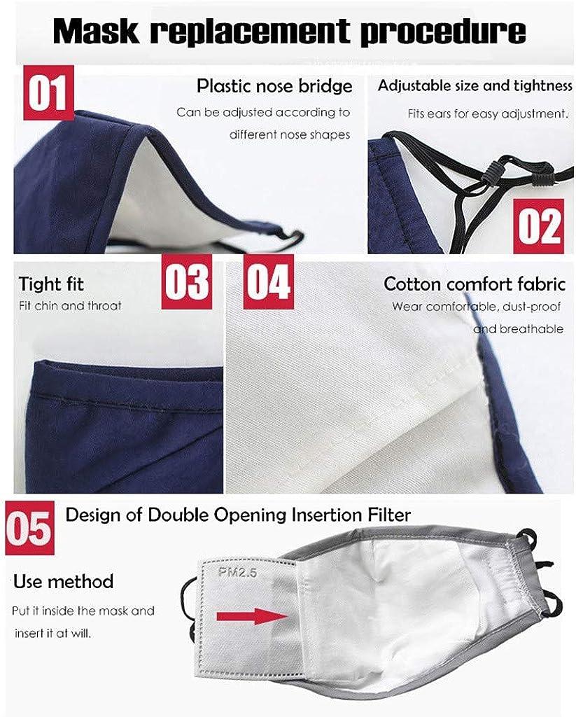 1-Blue,One Size Toimothcn Reusable Dustproof M a s k Dust M a s k with Air Valve Windproof Foggy Haze Pollution Respirato