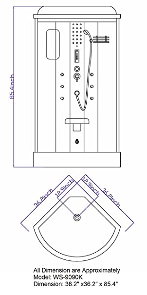 Sliding Door Steam Shower Enclosure Unit - Bathtub And Showerhead ...