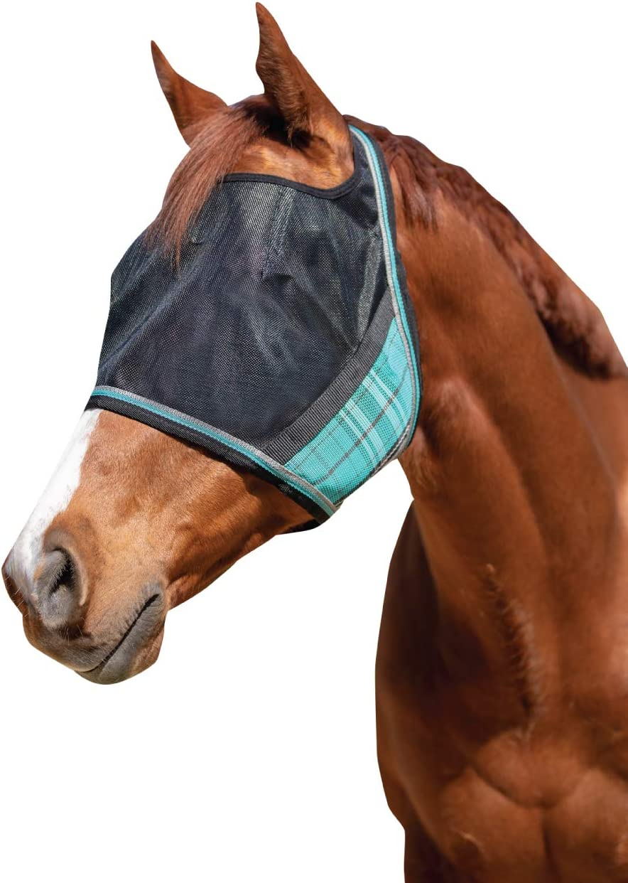 Newest UV Solar Screen Protection with a 90/% UV Rating Double Locking CatchMask Fasteners Kensington UViator Protective Fly Mask Non Heat Transferring Fabric