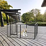 YAHEETECH Foldable Metal Dog Playpen 32 inch