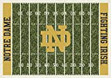 Milliken 4000018716 Notre Dame College Home Field Area Rug, 10'9'' x 13'2'', 01260 Home Field