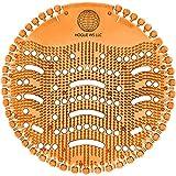 Scented Urinal Screens 10 Pack – Orange Mango Fragrance – Good for 5,000 Flushes – Fresh Wave 2.0 Anti-Splash & Odor Neutralizer