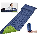 COSANSYS Camping Mattress, Double Sided Colour Inflatable Air Pad Camping Bed, 78.7 x 23.2 x 2.36 Inches Mat Camping Sleeping Pad,Compact, Moisture Proof, for Hiking