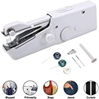 Portable Sewing Machine, Mini Cordless Handheld Stitch Electric Household Tool for Fabric, Clothing, Kids Cloth, Home Travel Use