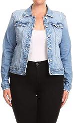 39c1e255 SALT TREE Women's EnJean Distressed Raw Cut Hem Denim Vest & Jacket, ...