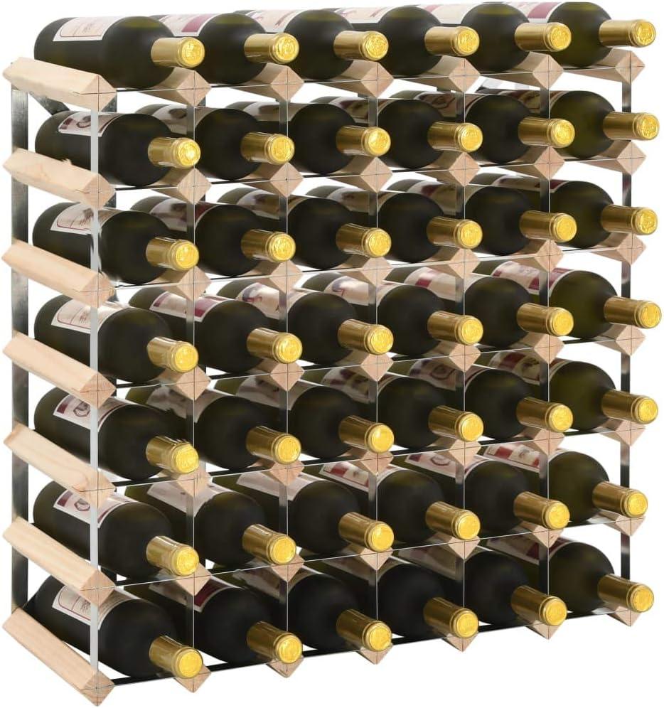 Festnight Botelleros Vino Madera Botellero para 12 Botellas de Madera Maciza de Pino Botellero Apilable
