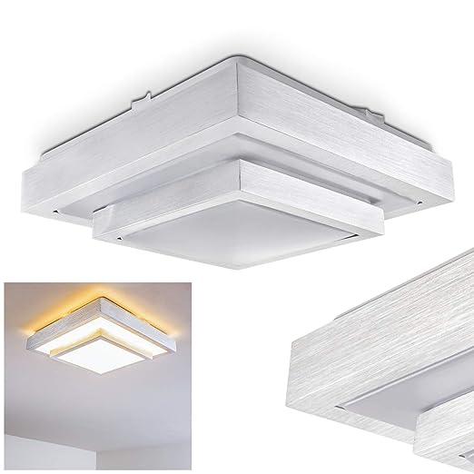 Lámpara de techo LED Sora 32cm acero cepillado - 1x LED 18W ...