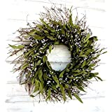 Spring Wreath, Summer Wreath, Fall Wreath-Rustic Twig Wreath, Bay Leaf Wreath, Farmhouse Wreath, Holiday Decor, Christmas Wreath, Year Round Wreath, Door Wreath, Housewarming Gift