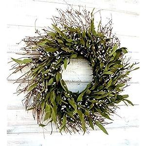 Spring Wreath, Summer Wreath, Fall Wreath-Rustic Twig Wreath, Bay Leaf Wreath, Farmhouse Wreath, Holiday Decor, Christmas Wreath, Year Round Wreath, Door Wreath, Housewarming Gift 78