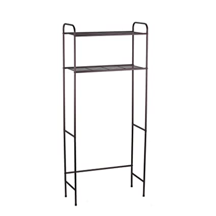 Amazon.com: Home Basics 2 Tier Over The Toilet Bathroom Space Saver ...