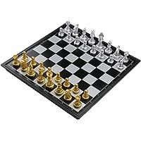 Schachspiel Magnetisch Einklappbar Schachbrett Pädagogisches Spielzeug für Kinder ab 6 Schach Spiele für Erwachsene 25x25cm