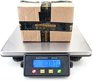 Electronic LCD Scales Commercial Digital Floor Bench Weight 440lbs./200KG. Shipping Weigh Digital Shipping Postal Scale Heavy Duty Steel, Food Price, Warehouse, Department Store