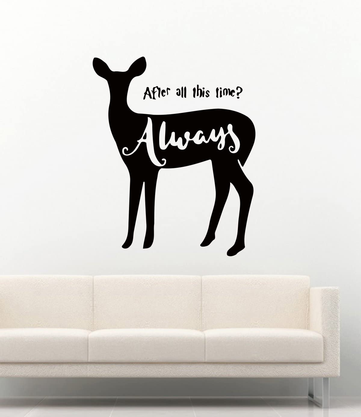 Harry Potter Wall Decals Severus Snape Patronus and Quotes After All This Time Always Decor Stickers Vinyl MK2908