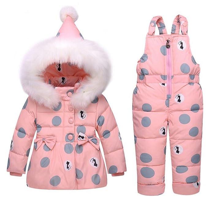 Ishowstore - Traje de Nieve - para bebé niña Rosa Pink 100cm M ...