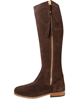 Ladies Suede Tall Country Full Zipped Riding Boot Rydale Women/'s Knee High Boots
