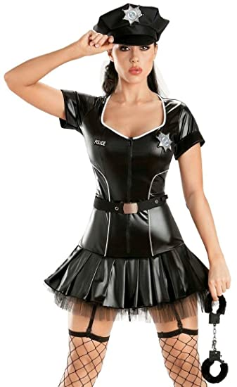 Escante Sexy Police Officer Cop Shiny Tutu Womens Halloween Costume XL  sc 1 st  Amazon.com & Amazon.com: Escante Sexy Police Officer Cop Shiny Tutu Womens ...