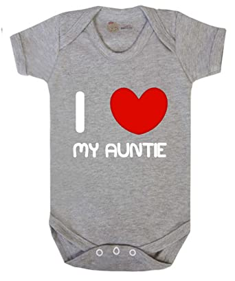 c67b578eb Baby Vest - Grey - Newborn - I Love My Auntie baby vest / baby grow Baby  Vest / Baby Grow: Amazon.co.uk: Clothing
