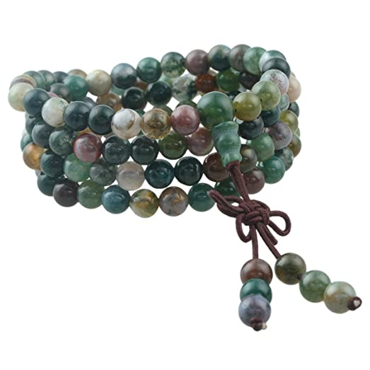 moss round green agate beads bracelet item polish natrual making necklace stone for matte dull jewelry