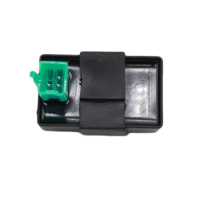 CNCMOTOK Wiring Loom Harness Kill Switch Ignition Coil Cdi Box Spark Plug Rebuild Kit for Kick Start Dirt Pit Bike ATV 50CC 70CC 90CC 110CC-160cc Buggy Go Kart Wire Harness by CNCMOTOK (Image #5)