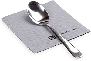 Luxenap 7.87 Inch Cocktail Napkins, 100 Disposable Beverage Napkins - 2-Ply, Linen Feel, Gray Paper Bar Napkins, Soft And Absorbent, For Coffee Or Snacks - Restaurantware