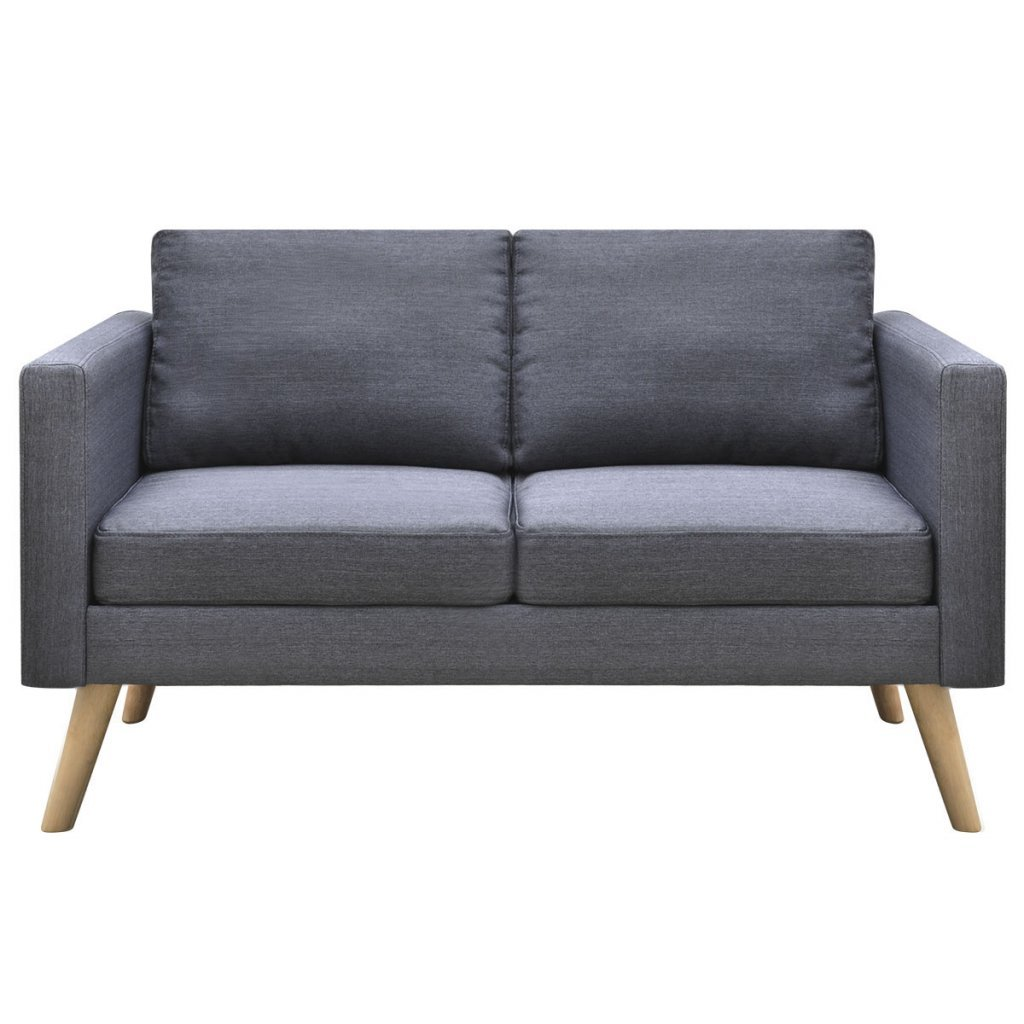 Amazon.com: vidaXL Modern Fabric Sofa 2-Seater Couch Wooden ...