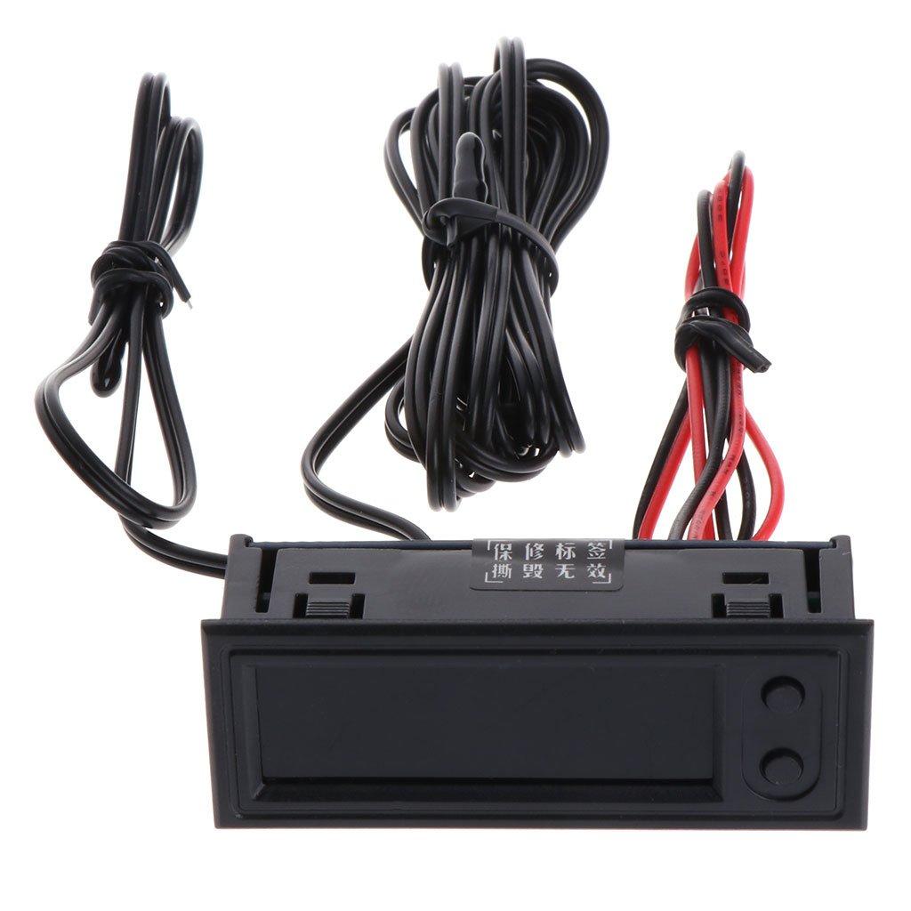 Qiulip DIY Multifunction Clock Car Temperature Battery Voltage Monitor Voltmeter DC 12V