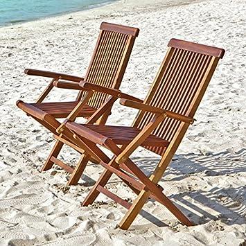 Bois Dessus Bois Dessous Juego de 2 sillas de jardín ...