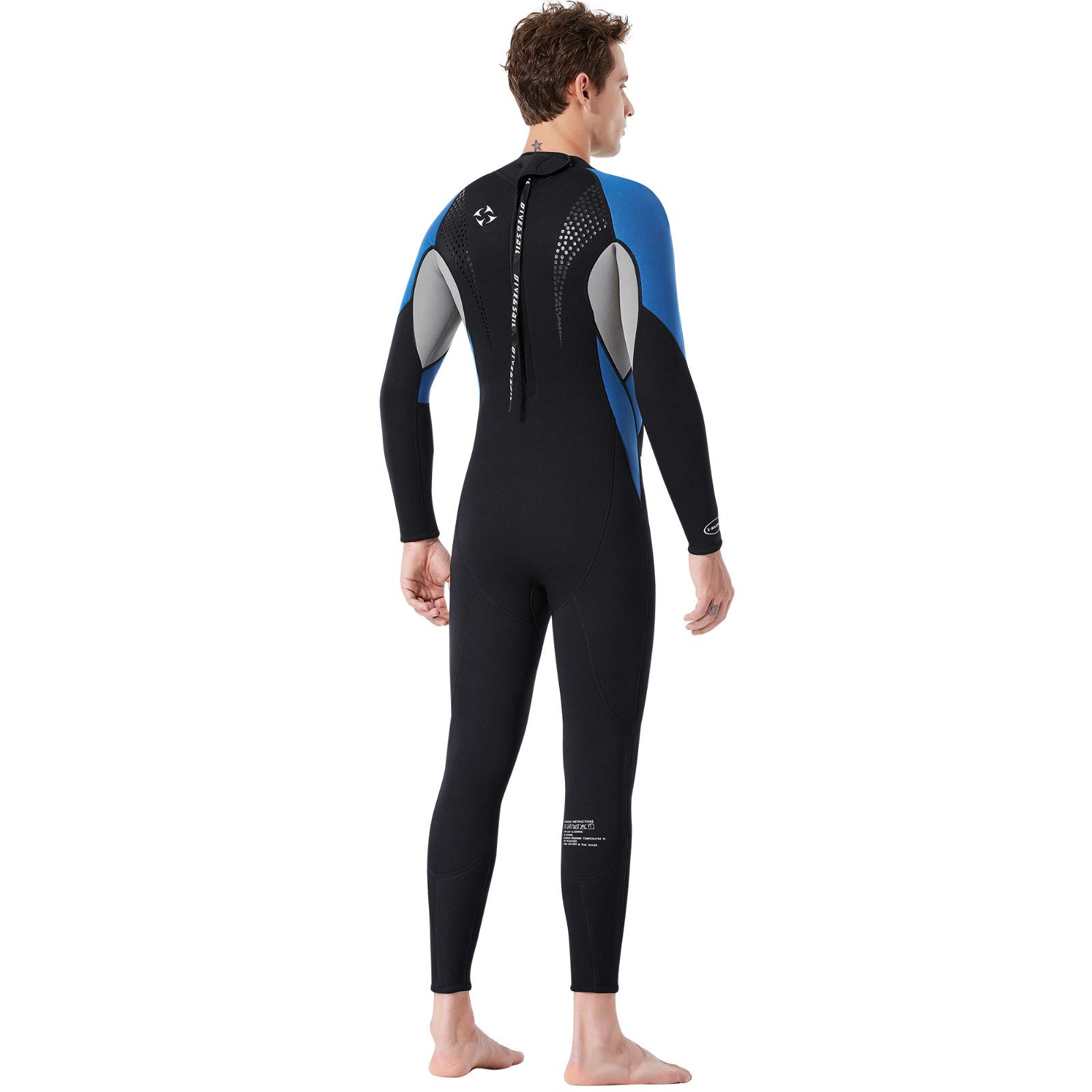Yliquor Men's Keep Warm Sunscreen Swimming,Surfing and Snorkeling Diving Coverall SuitTraining Fashion Quick Dry Comfy Breathable Elastic Classic by Yliquor (Image #8)