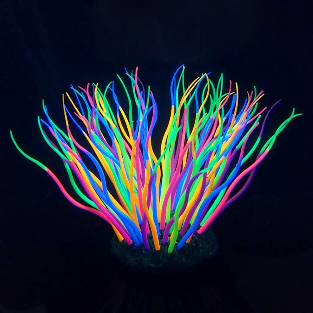 "Danmu 1Pc of Glowing Effect Artificial Coral, Aquarium Coral Decor, Coral Ornaments, Plant Ornaments for Fish Tank Aquarium Decoration 2 7/10"" x 2 7/10"" x 5 1/10"""