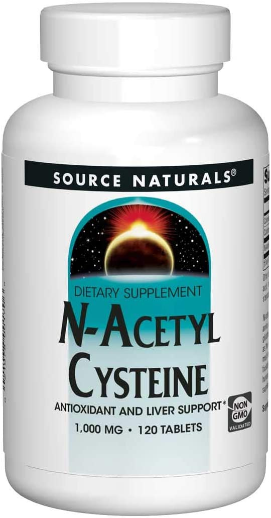 Source Naturals N-Acetyl Cysteine Antioxidant Support 1000 mg Dietary Supplement That Supports Respiratory Health - 120 Tablets: Health & Personal Care