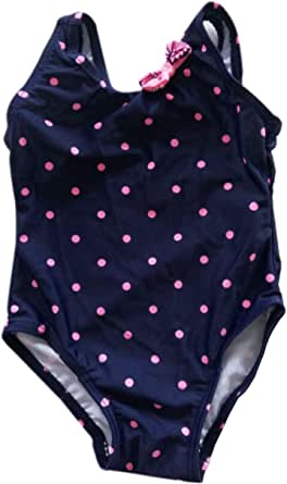 Girl/'s Pink Dots Swimsuit Bathing Suit-1 Piece Swimsuit-Girl Monogram Bathing Suit-Baby Toddler Swimsuit for Beach and Pool